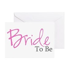 Bride To Be (Pink Script) Greeting Cards (Package