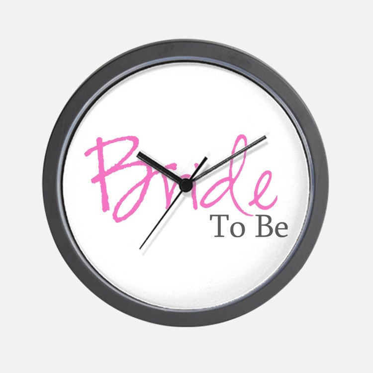 Bride To Be (Pink Script) Wall Clock
