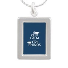 Keep Calm and Love Rhinos Necklaces
