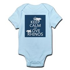 Keep Calm and Love Rhinos Body Suit