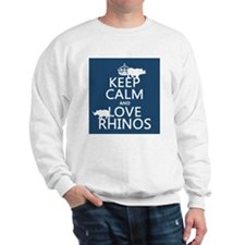Keep Calm and Love Rhinos Jumper