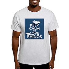 Keep Calm and Love Rhinos T-Shirt
