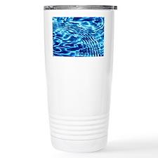 Blue Liquid Art Travel Mug