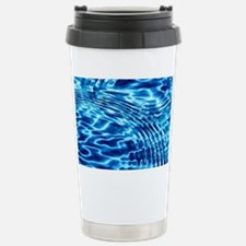 Blue Liquid Art Travel Mug