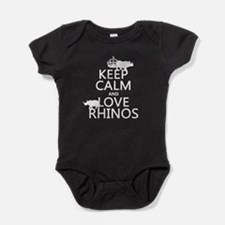 Keep Calm and Love Rhinos Baby Bodysuit