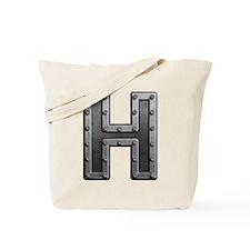 H Metal Tote Bag
