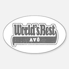 WB Grandpa [Portuguese] Oval Decal