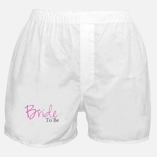 Bride To Be (Pink Script) Boxer Shorts