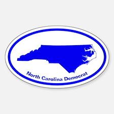 North Carolina BLUE STATE Oval Decal