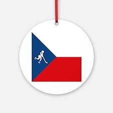 Team Ice Hockey Czech Republic Ornament (Round)
