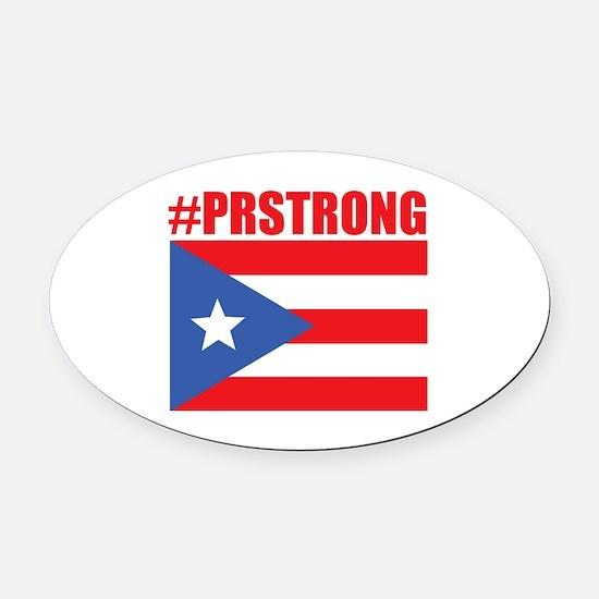 Cute Puerto rico flag Oval Car Magnet