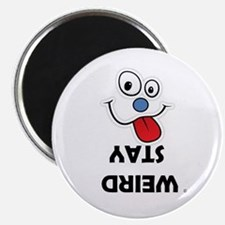 Stay Weird Funky Smiley Face Magnet