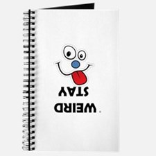 Stay Weird Funky Smiley Face Journal