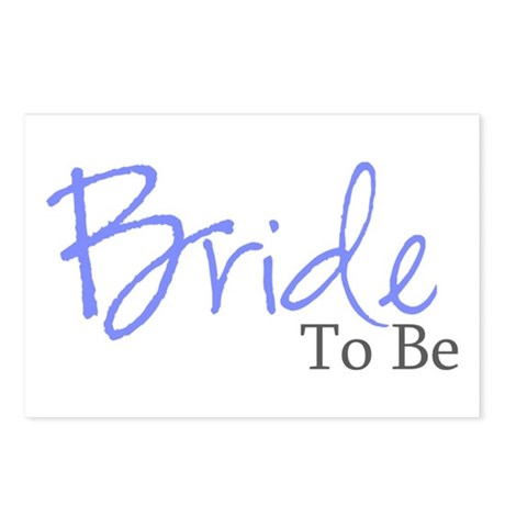 Bride To Be (Blue Script) Postcards (Package of 8)