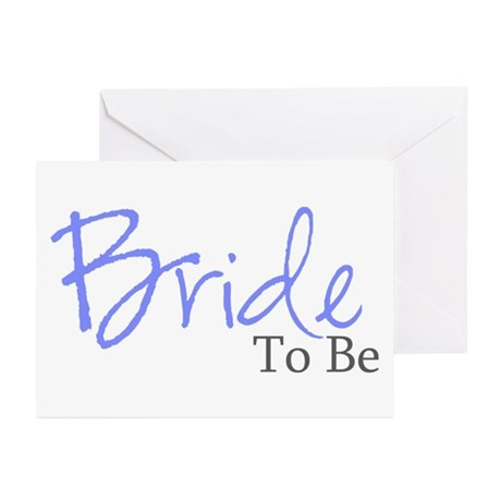 Bride To Be (Blue Script) Greeting Cards (Package