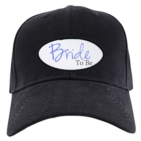 Bride To Be (Blue Script) Black Cap