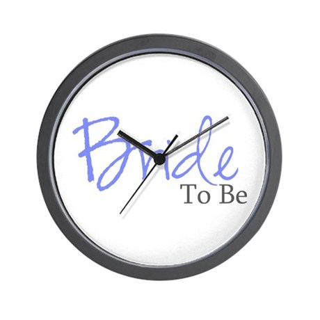 Bride To Be (Blue Script) Wall Clock