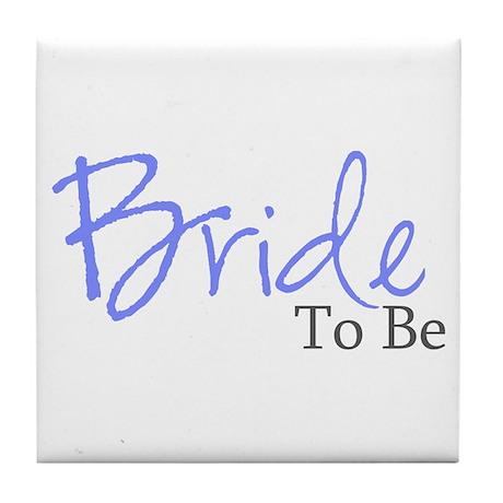 Bride To Be (Blue Script) Tile Coaster