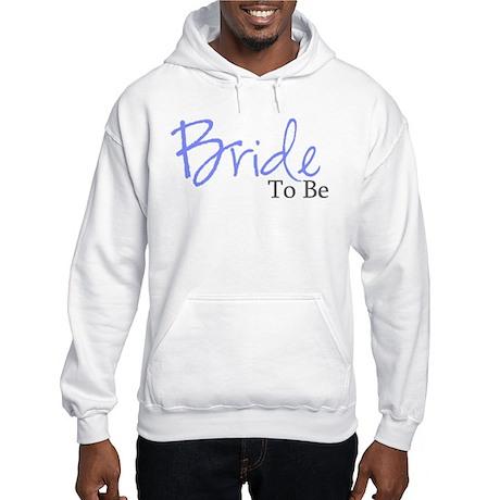 Bride To Be (Blue Script) Hooded Sweatshirt