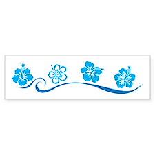 Flower Beach Bumper Bumper Sticker
