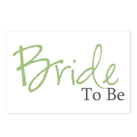 Bride To Be (Green Script) Postcards (Package of 8