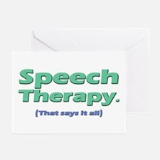 Speech Therapy Says It All Greeting Cards (Package