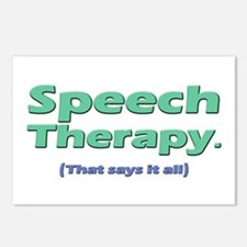 Speech Therapy Says It All Postcards (Package of 8