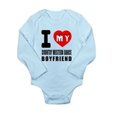 I Love My Country West Long Sleeve Infant Bodysuit