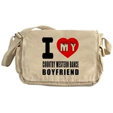 I Love My Country Western Dance Boyf Messenger Bag