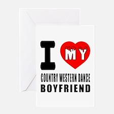 I Love My Country Western Dance Boyf Greeting Card
