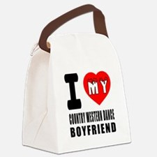 I Love My Country Western Dance B Canvas Lunch Bag