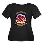 VAQ 34 F Women's Plus Size Scoop Neck Dark T-Shirt