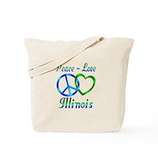 Peace Love Illinois Tote Bag