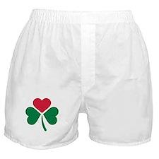 Shamrock red heart Boxer Shorts