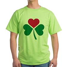 Shamrock red heart T-Shirt