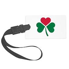 Shamrock red heart Luggage Tag