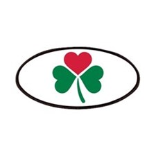 Shamrock red heart Patches