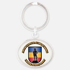 SSI - Army National Guard Schools Wi Oval Keychain