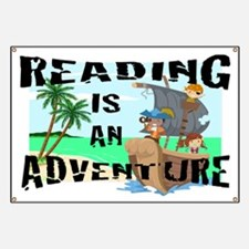 Reading is an Adventure Banner