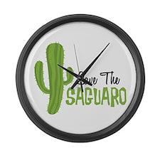 Save The Saguaro Large Wall Clock