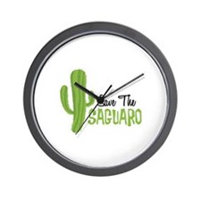 Save The Saguaro Wall Clock