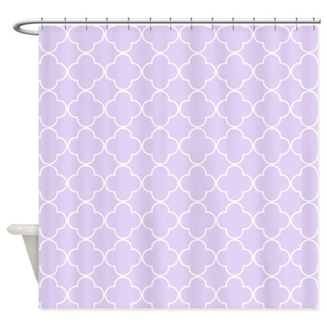Lavender Quatrefoil Pattern Shower Curtain by ... - photo#7