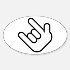 Thizz Hand Sign Oval Decal