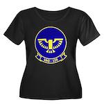 VAQ 128 Women's Plus Size Scoop Neck Dark T-Shirt