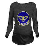 VAQ 128 Fighting Pho Long Sleeve Maternity T-Shirt