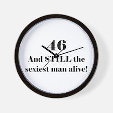 46 Still Sexiest 1C Black Wall Clock