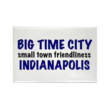Indianapolis Big Time Rectangle Magnet