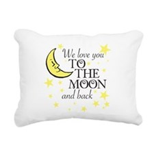 We love you to the moon and back Rectangular Canva