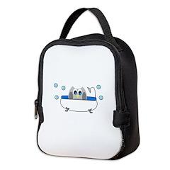 Owl in Tub Neoprene Lunch Bag
