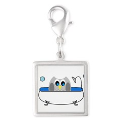 Owl in Tub Charms